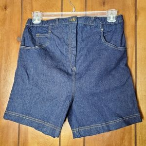 NEW A Pea in the Pod adjustable denim shorts